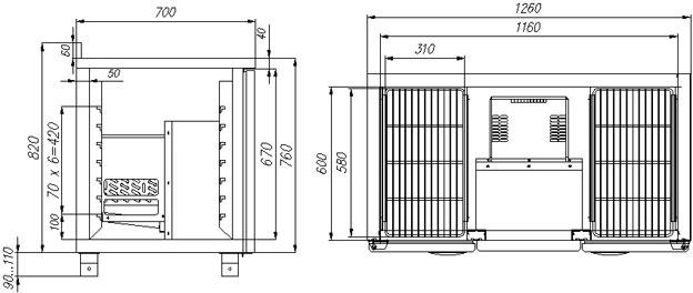 Схема устройства с размерами: