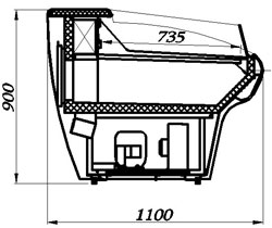 Холодильная витрина Carboma BXCо-2,0 (схема устройства)